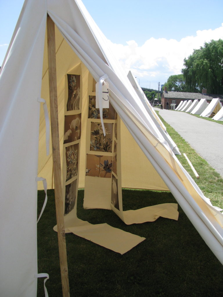 art installation in tent